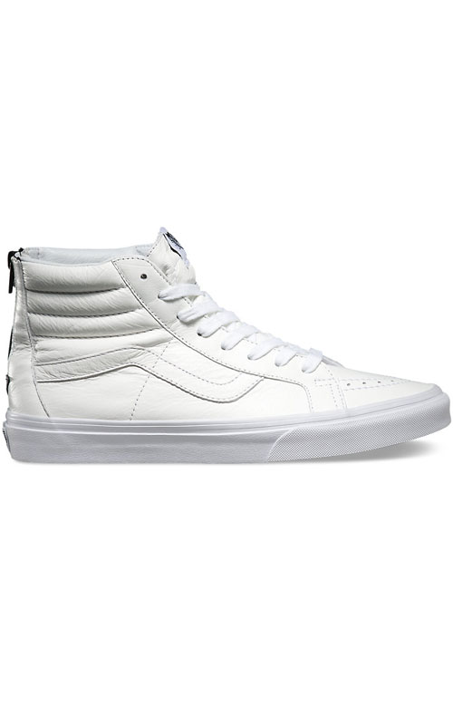 Sk8 Hi Reissue Zip Shoe - Leather White