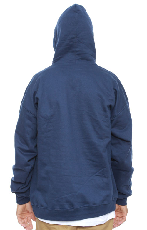 Flame Logo Pullover Hoodie - Navy Blue 2