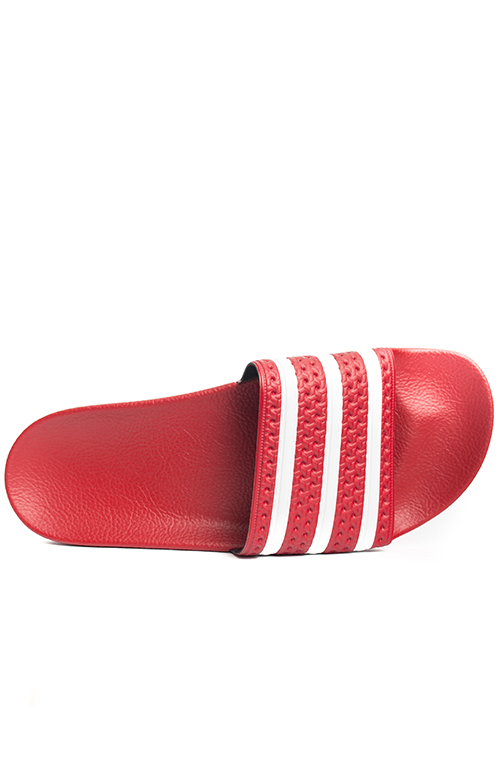 classic fit a6681 6d969 (288193) Adilette Slides - Red White. Thumbnail 1 Thumbnail 1 ...