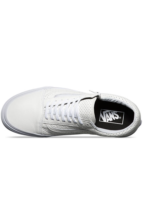 (18GGZO) Old Skool Zip Shoe - Perforated Leather White 2