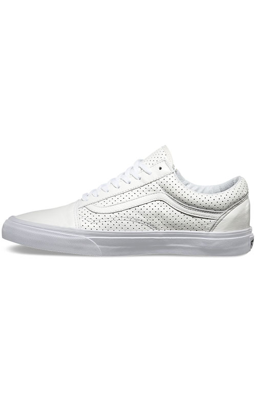 (18GGZO) Old Skool Zip Shoe - Perforated Leather White 4