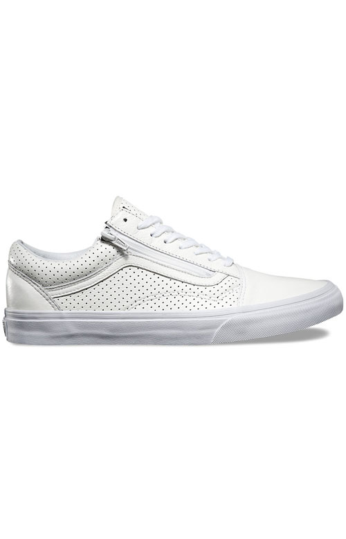 (18GGZO) Old Skool Zip Shoe - Perforated Leather White