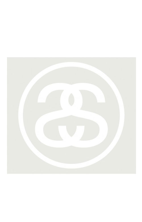 Stussy 77431 Big SS-Link Decal - White 5.5 x 5.5