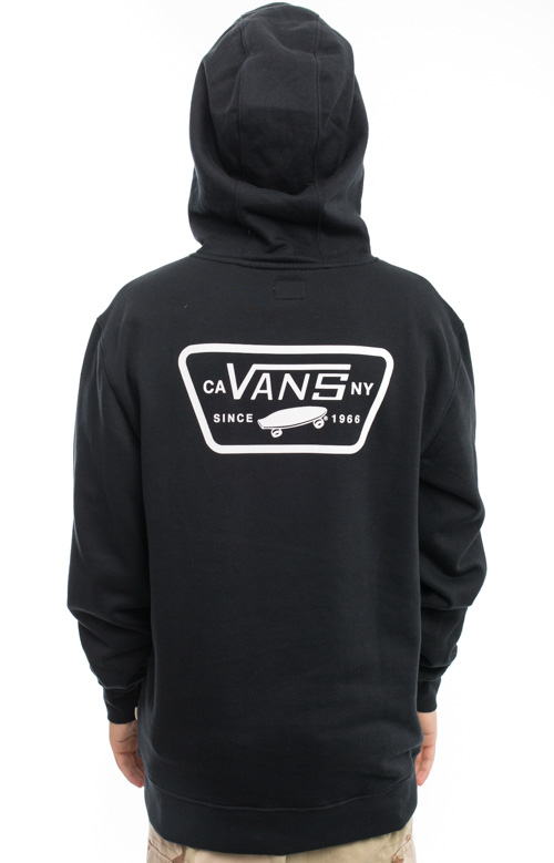 Full Patched Pullover Hoodie - Black 2
