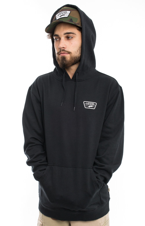 Full Patched Pullover Hoodie - Black 3