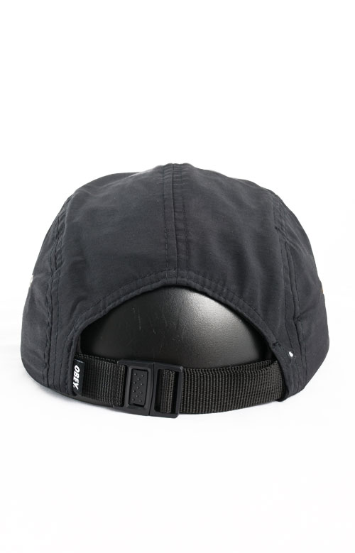 Contorted 5 Panel Hat - Black 2