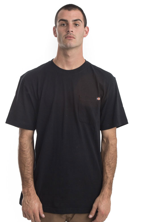 (WS450BK) Short Sleeve Heavyweight T-Shirt - Black