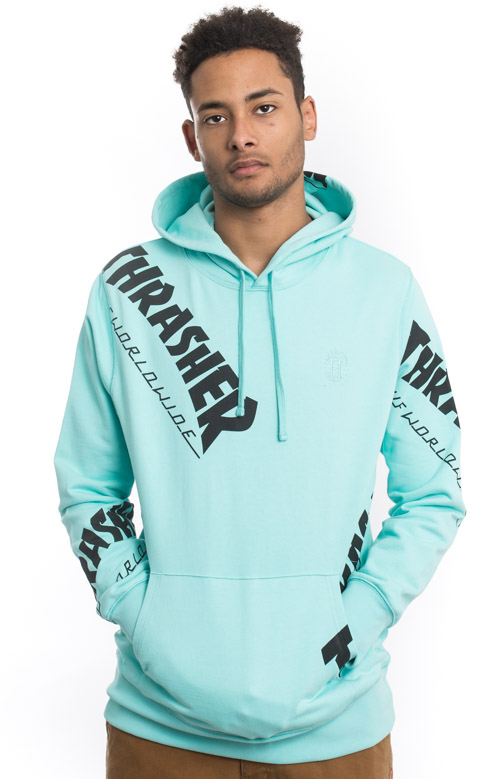 914d8bac3f04 Thrasher TDS Allover Pullover Hoodie - Mint. Thumbnail 1 Thumbnail 1  Thumbnail 1 Thumbnail 1