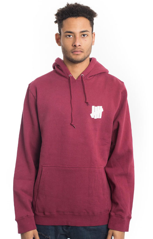 92a38f2ea4f Undefeated, Chest Strike Pullover Hoodie - Dark Red | MLTD