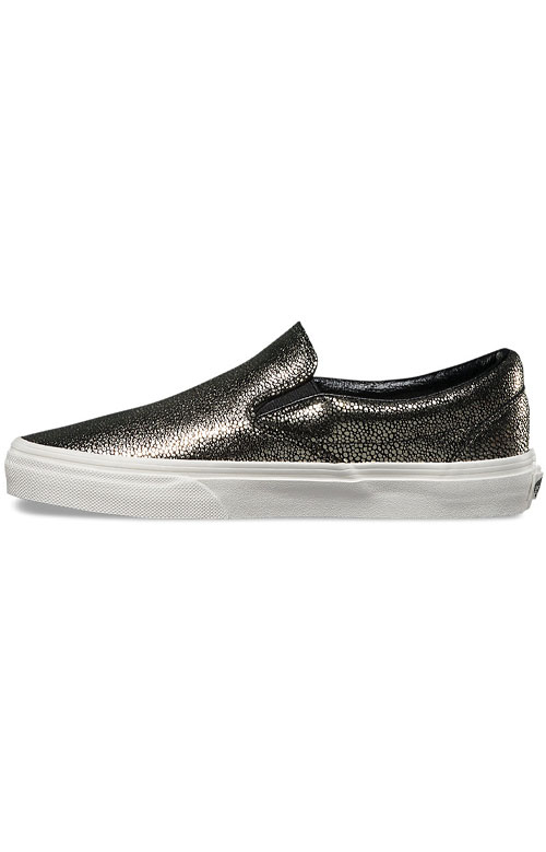 (3TBLY3) Gold Dots Classic Slip-On Shoe - Gold 4