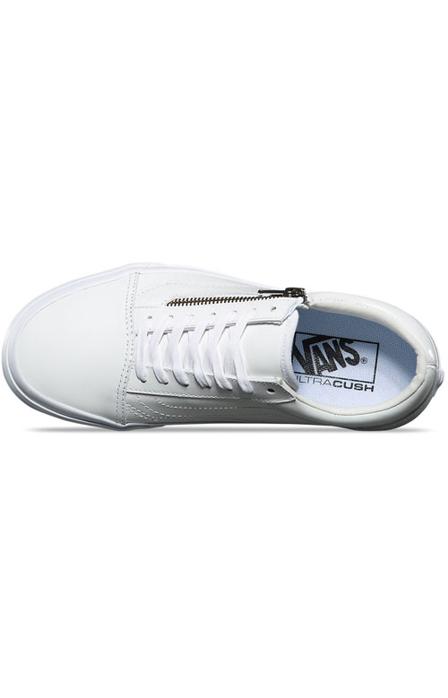 a419985ad44449 Smooth Leather Old Skool Zip DX Shoe - White. Thumbnail 1 Thumbnail 1 ...