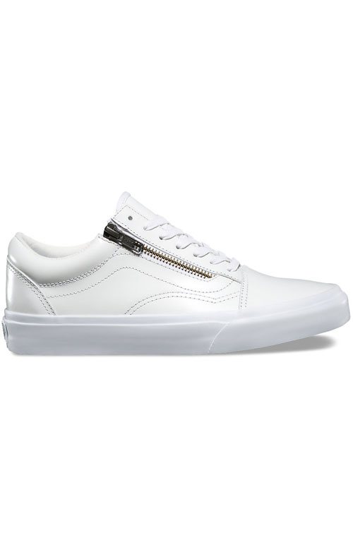 7cd0d80524d Vans Womens, Smooth Leather Old Skool Zip DX Shoe - White | MLTD