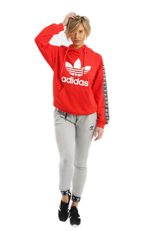 b2410781f8a4 Berlin Trefoil Pullover Hoodie - Core Red. Thumbnail 1 Thumbnail 1 ...
