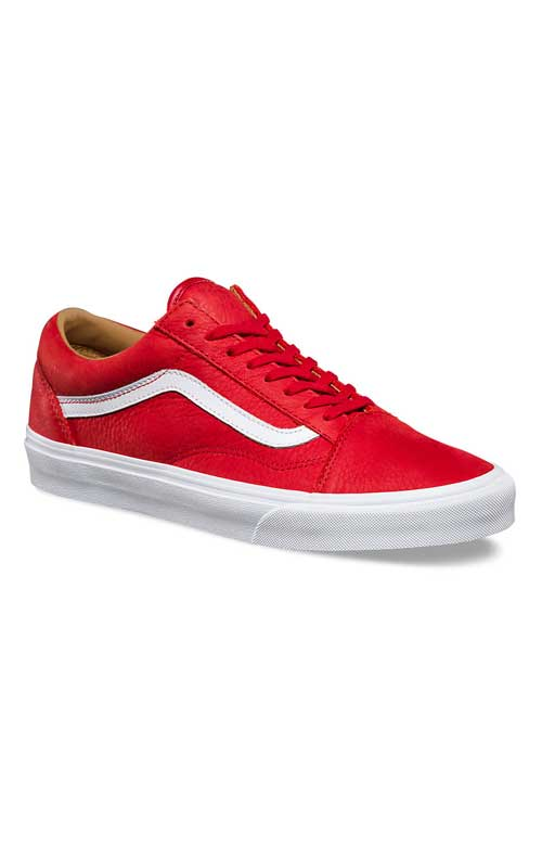 c038402d49 Premium Leather Old Skool Shoe - Racing Red