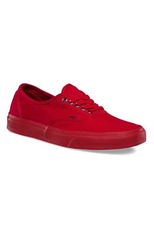 lowest price effa4 a5eb9 Vans, Primary Mono Authentic Shoe - Red Silver - Footwear - MOOSE ...