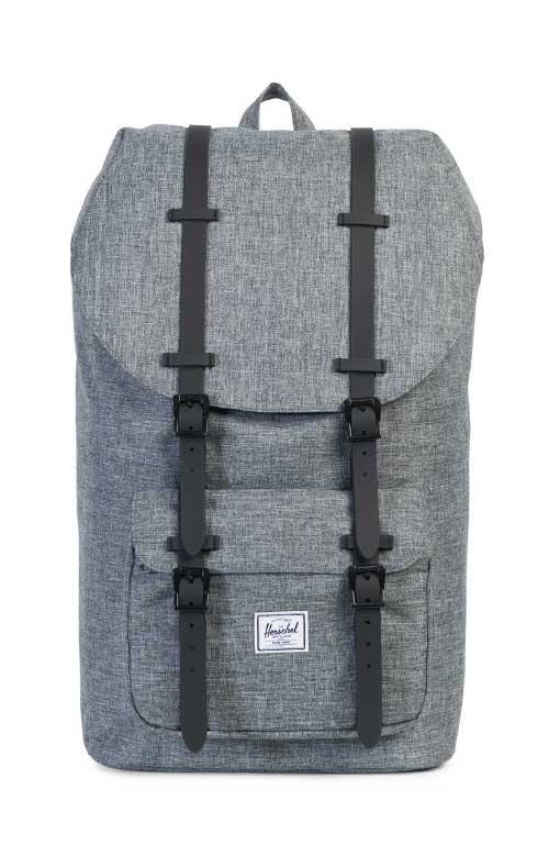 Little America Backpack - Raven Crosshatch/Black