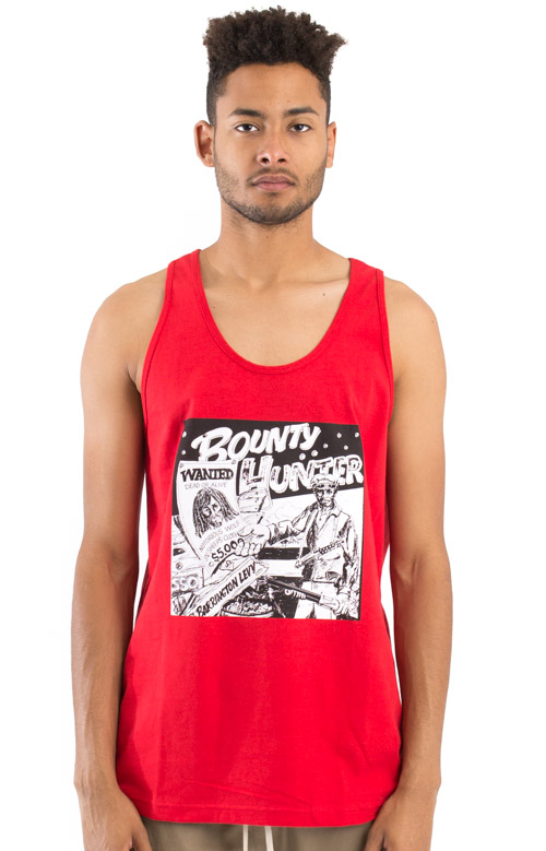 Barrington Levy Jah Life Bounty Hunter Tank Top - Red