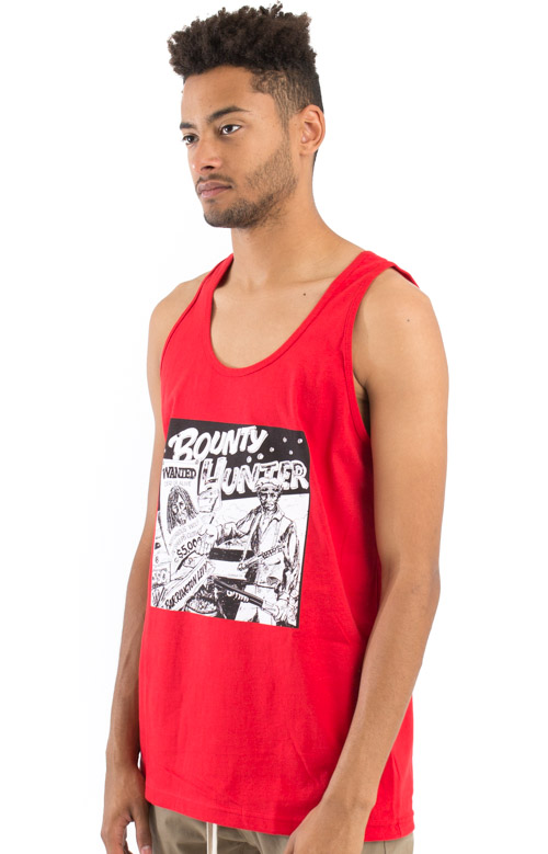 Barrington Levy Jah Life Bounty Hunter Tank Top - Red  2