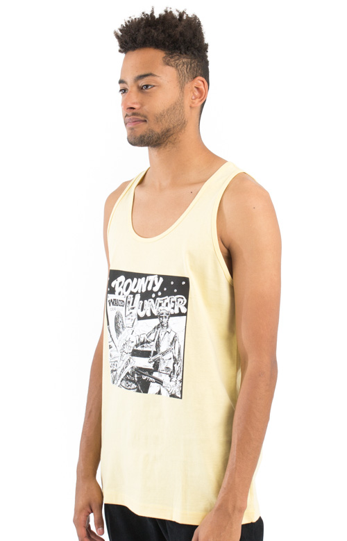 Barrington Levy Jah Life Bounty Hunter Tank Top - Pale Yellow 2