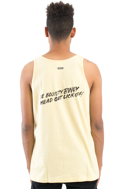 Barrington Levy Jah Life Bounty Hunter Tank Top - Pale Yellow 3