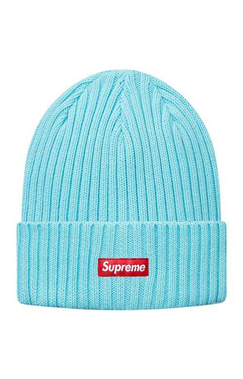 98735f1608f Overdyed Ribbed Beanie - Ice Blue