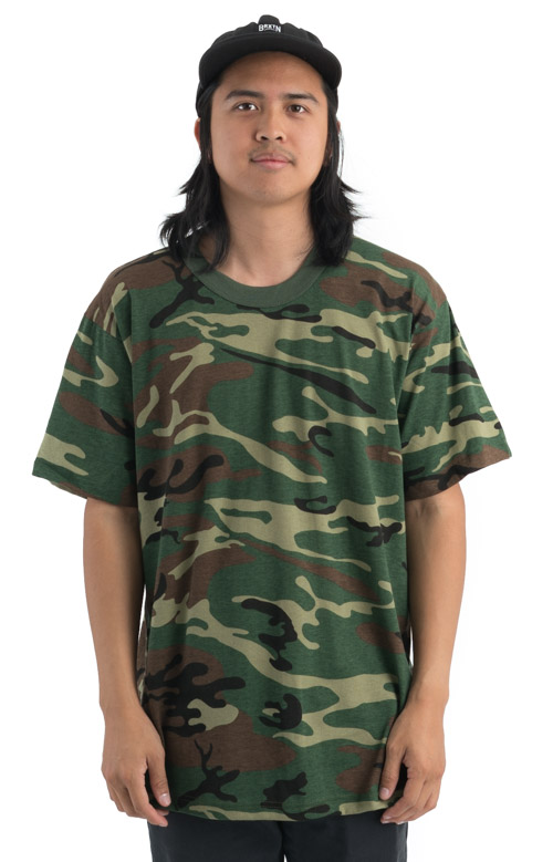 Rothco, (6777) Woodland Camo U.S. Made T shirt