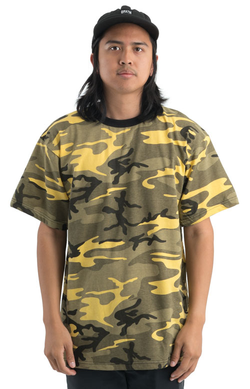 Rothco, (5994) Colored Camo T-Shirt - Yellow Stinger Camo