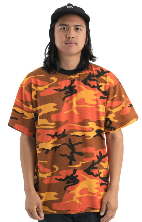 Rothco, (5997) Colored Camo T-Shirt - Orange Camo