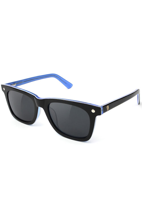 3a6eea45d2c6d Mikemo Sunglasses - Black White Blue