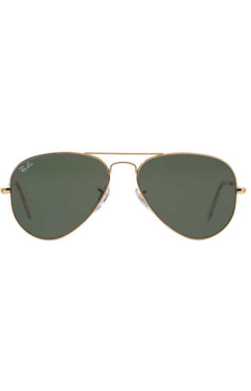 (W3234) Aviator Large Metal Sunglasses - Gold 2