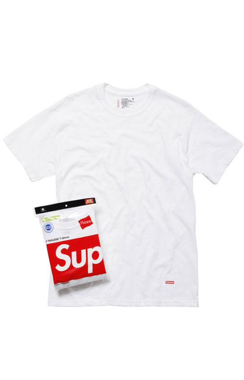 Supreme, Hanes Tagless Tee 3 Pack - White
