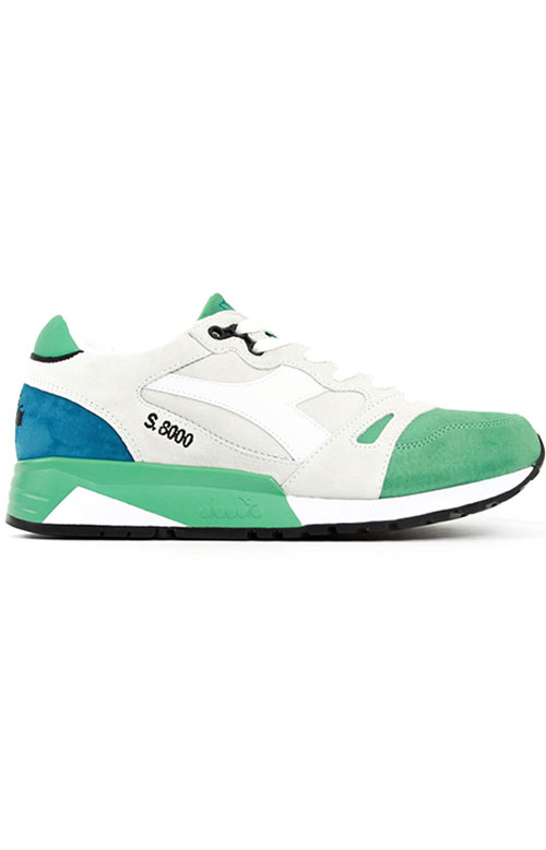 Diadora, S8000 Italia Shoe - White/Winter Green