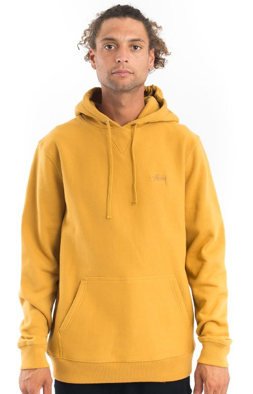 Stussy 77438 Stock Logo Pullover Hoodie - Amber
