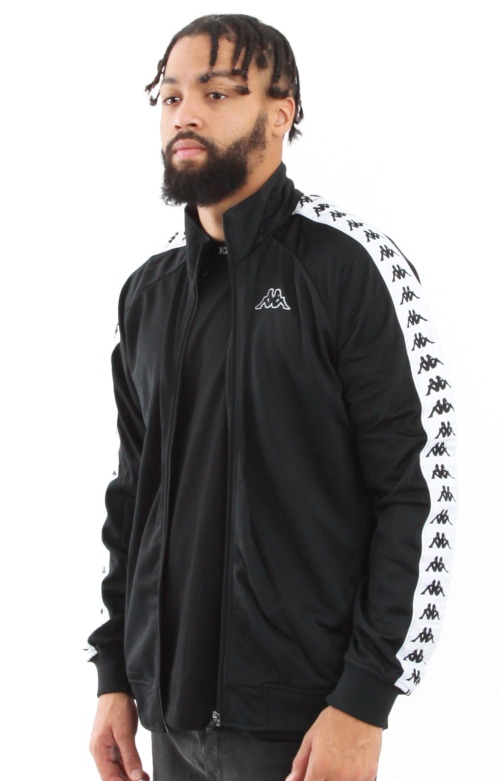 Kappa, 222 Banda Anniston Slim Track Jacket - Black/White