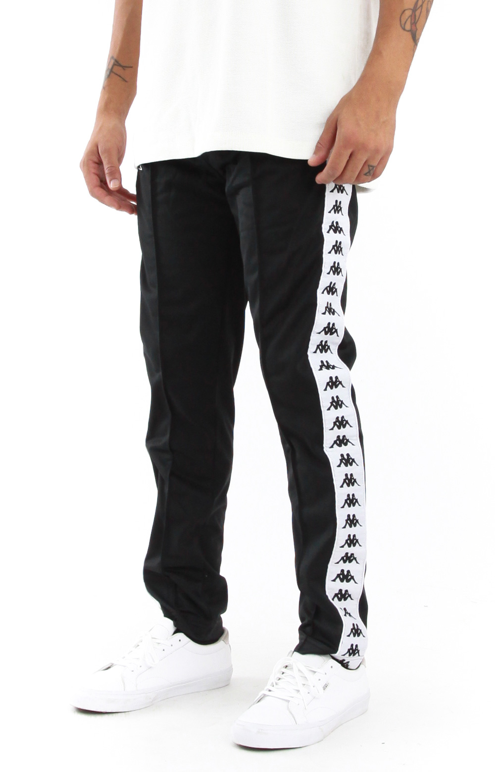 Kappa, 222 Banda Astoria Slim Track Pants - Black/White