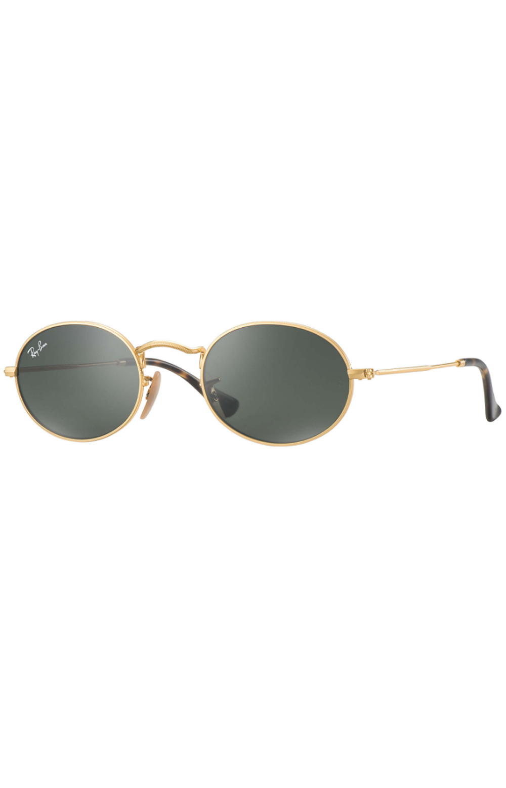 (001) Oval Sunglasses - Black/Gold Oval