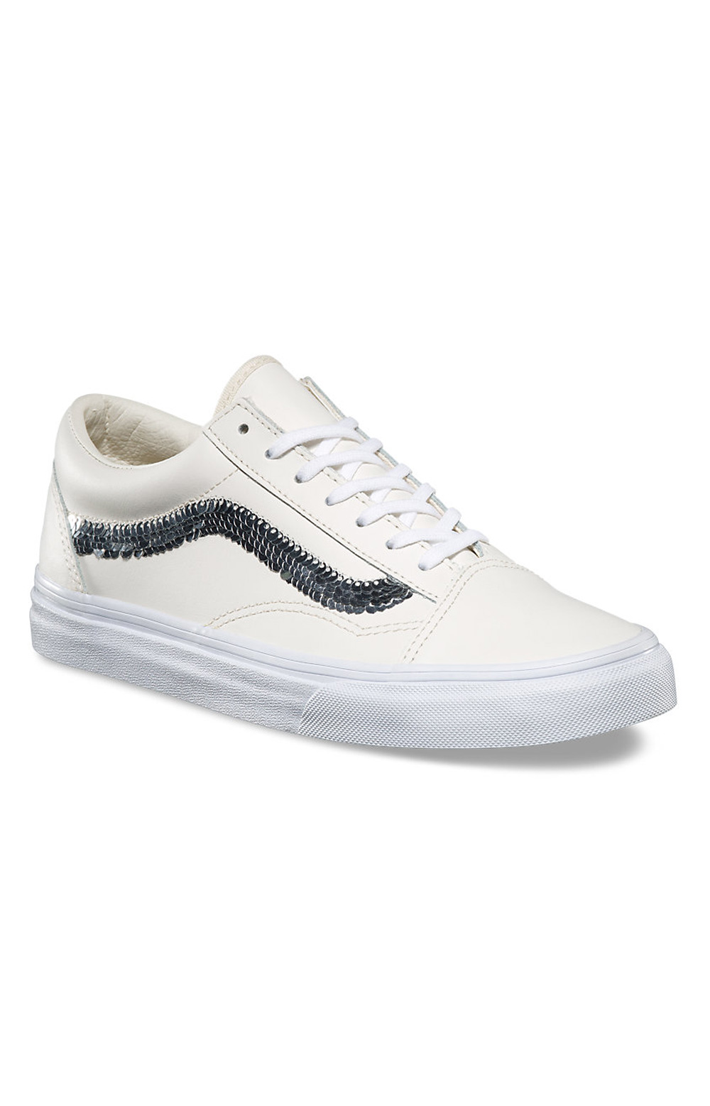 (8G1QVY) Old Skool Shiny Sequins Shoe - Marshmallow  3