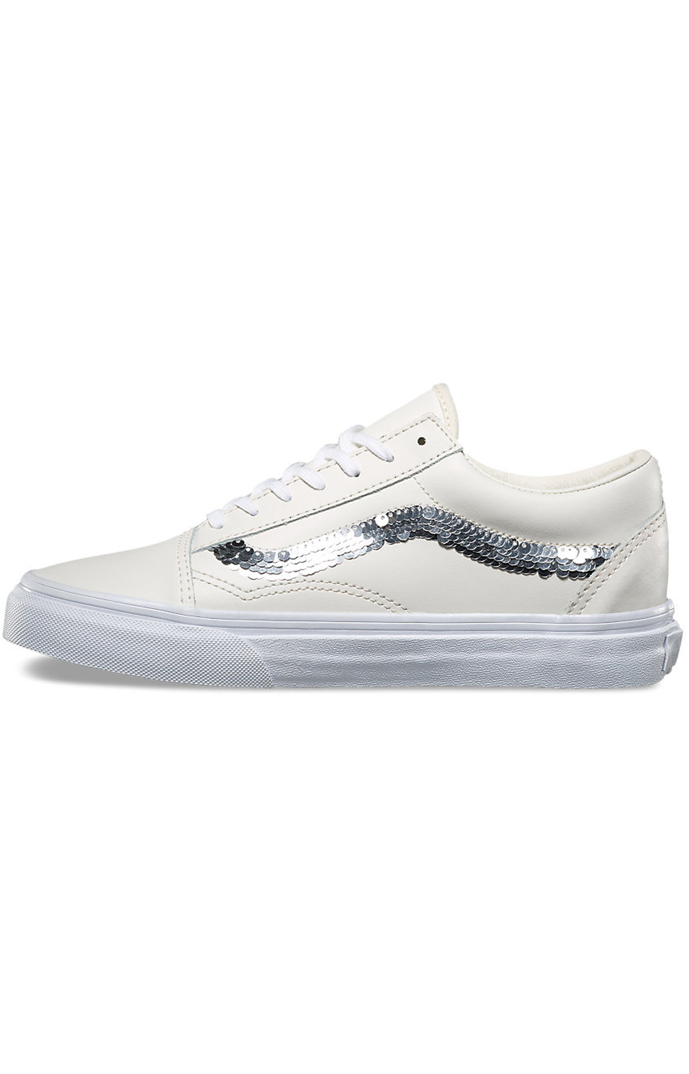 (8G1QVY) Old Skool Shiny Sequins Shoe - Marshmallow  4