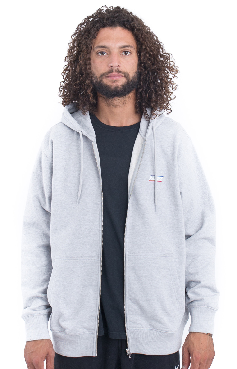 Basically A Zip-Up Hoodie - Grey