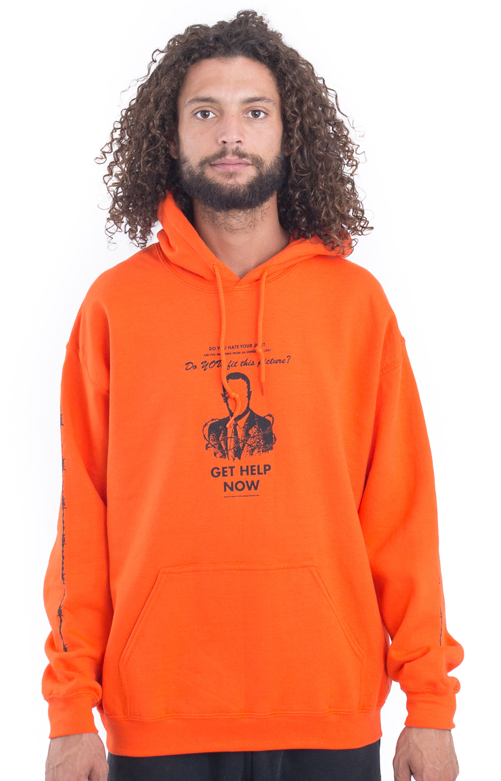 Get Help Now Fleece Pullover Hoodie - Orange
