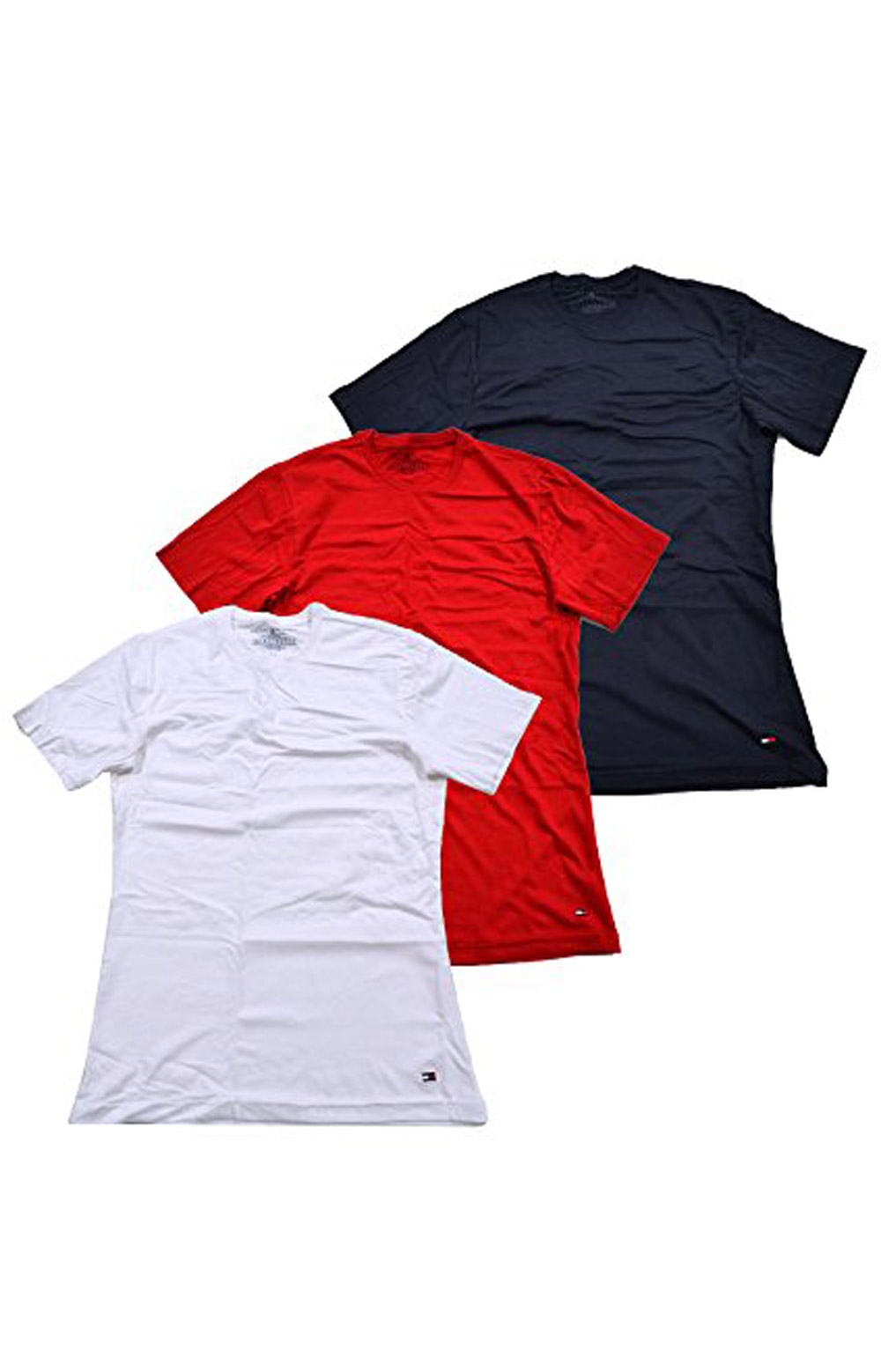 4b2a18c4 Tommy Hilfiger, 3 Pack Cotton Classic Crewneck T-Shirts - Red/White ...