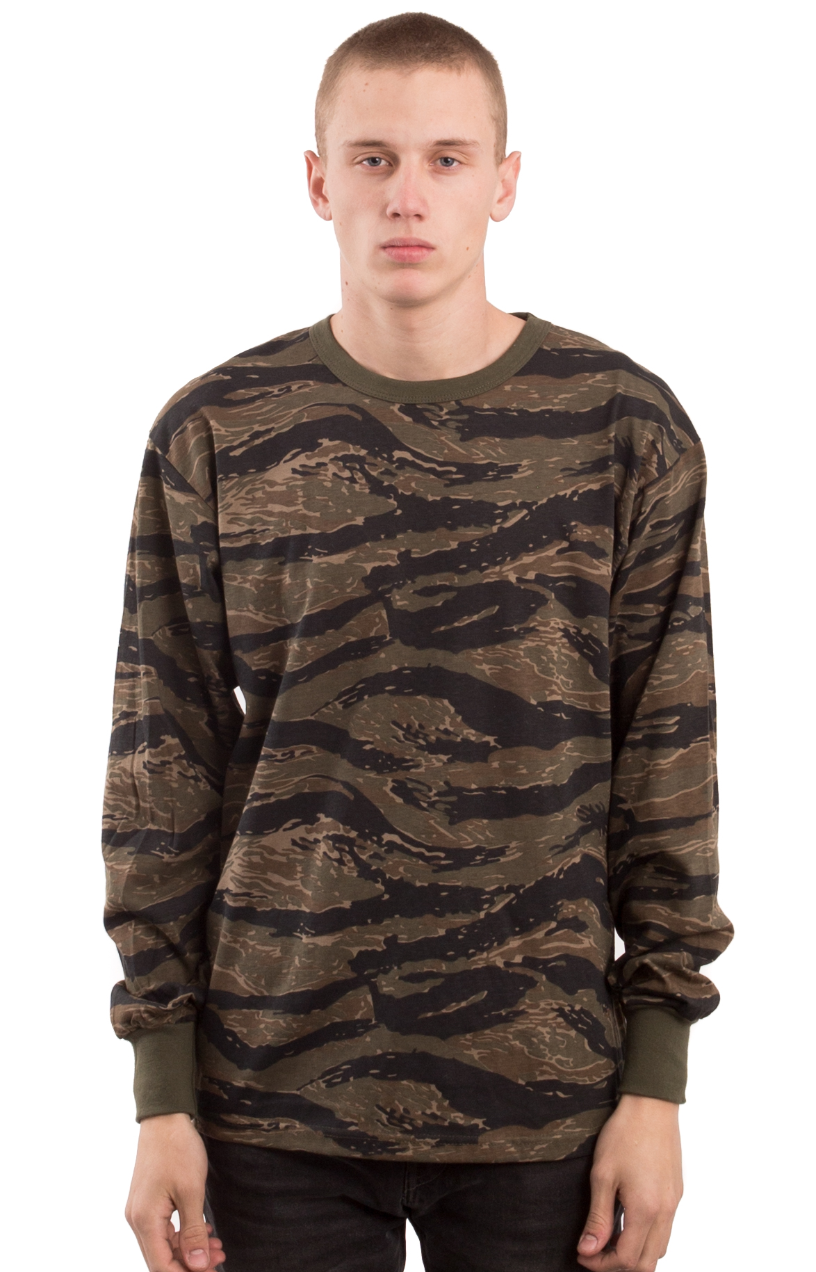 (66787) L/S Camo Shirt - Tiger Stripe Camo