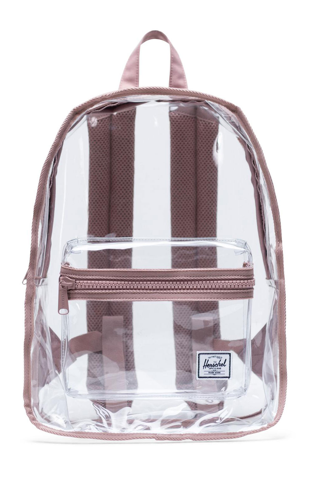 Classic Mid Clear Backpack - Ash Rose