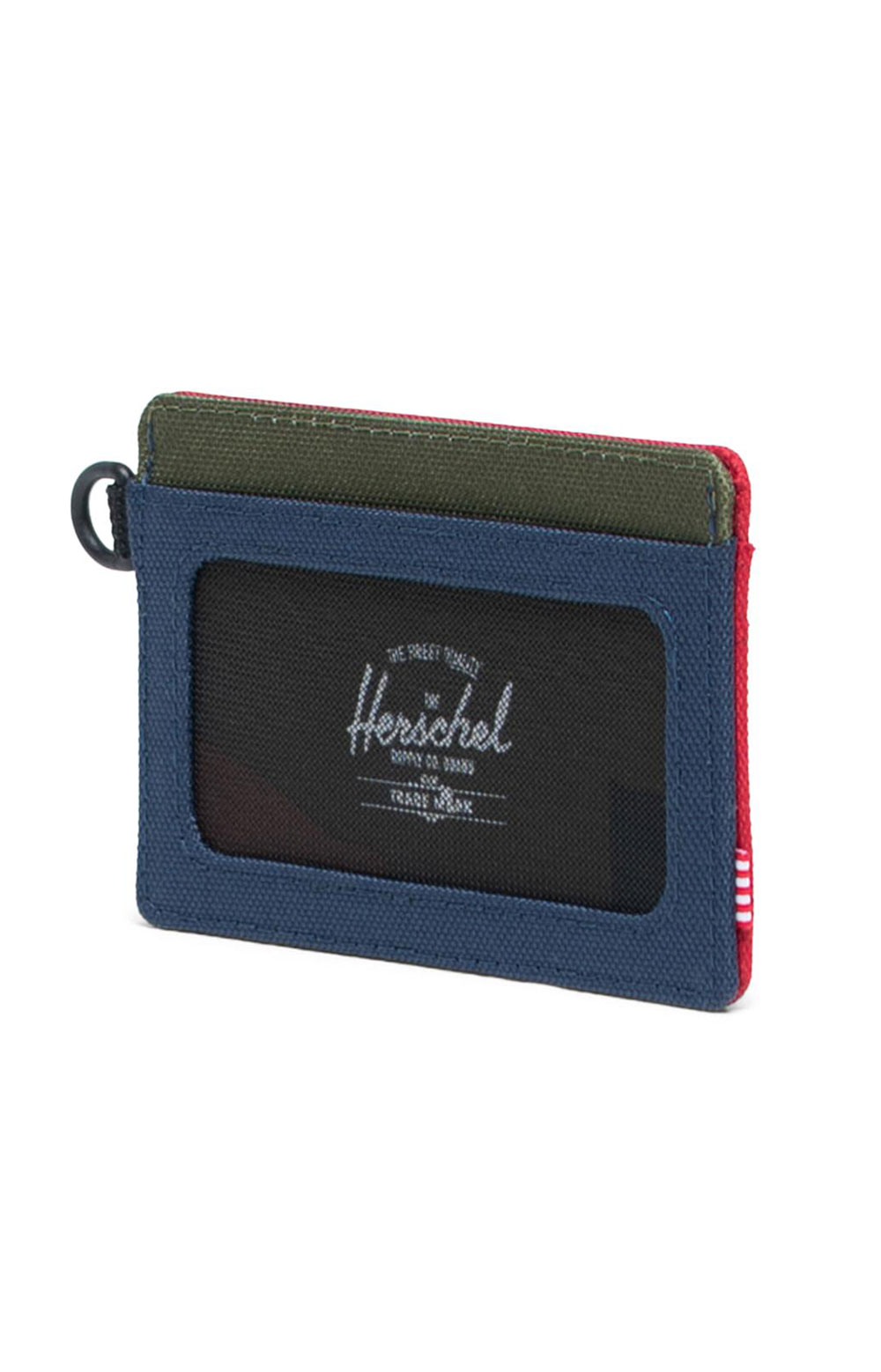 Charlie ID Wallet - Navy/Red/Woodland Camo 2