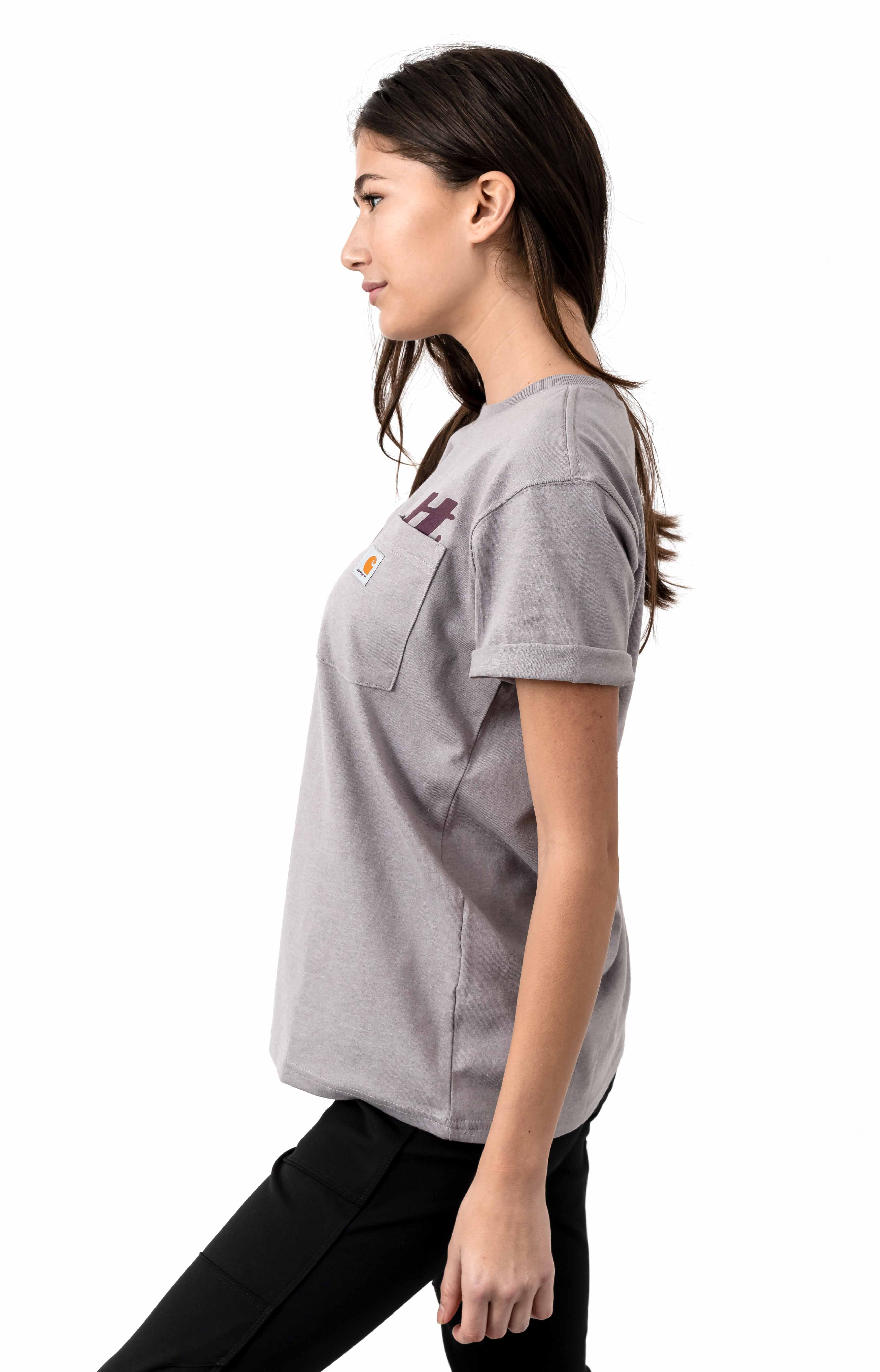 (104356) Original Fit Pocket Graphic T-Shirt - Gull Gray Heather 2