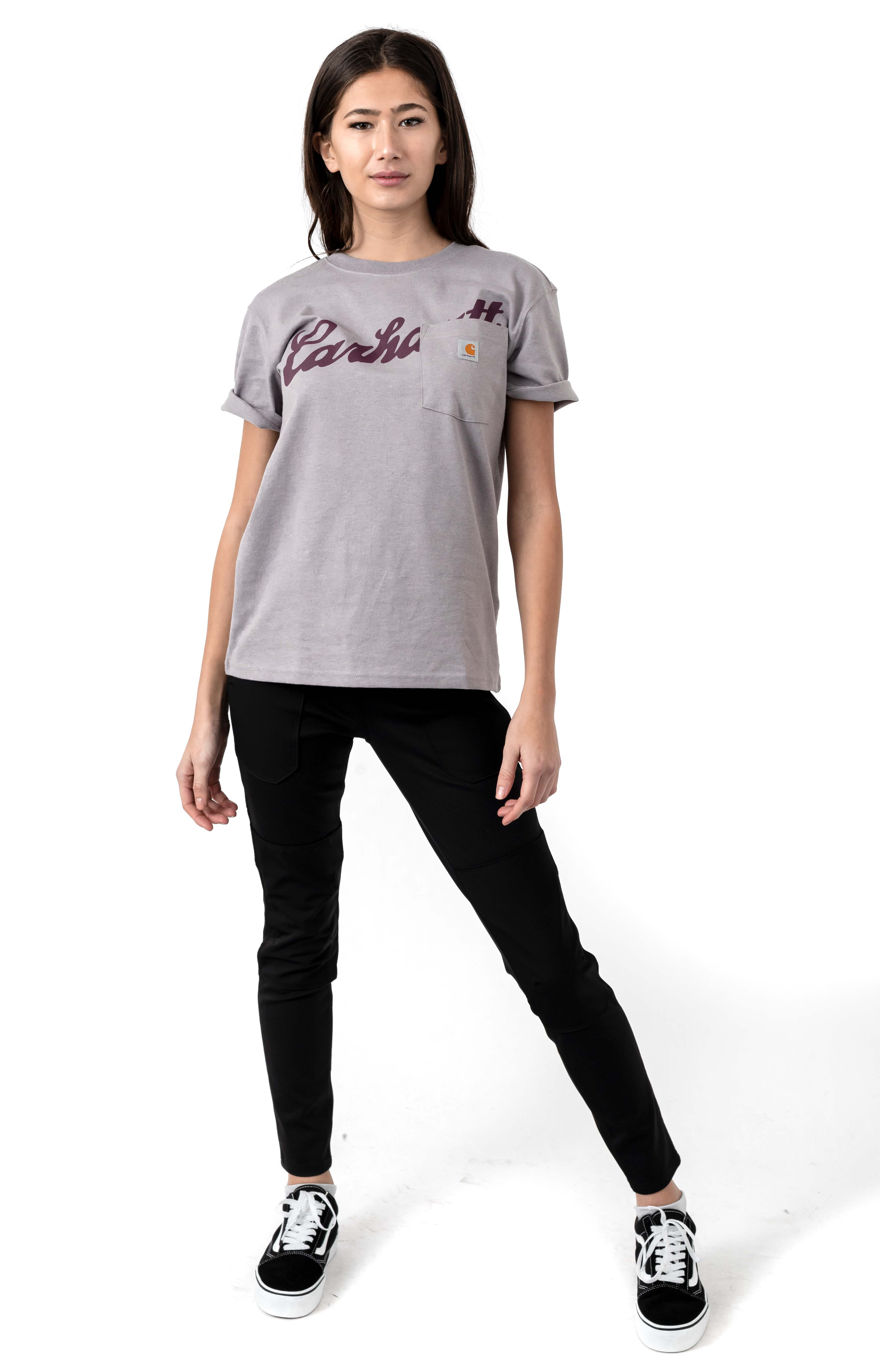 (104356) Original Fit Pocket Graphic T-Shirt - Gull Gray Heather 4