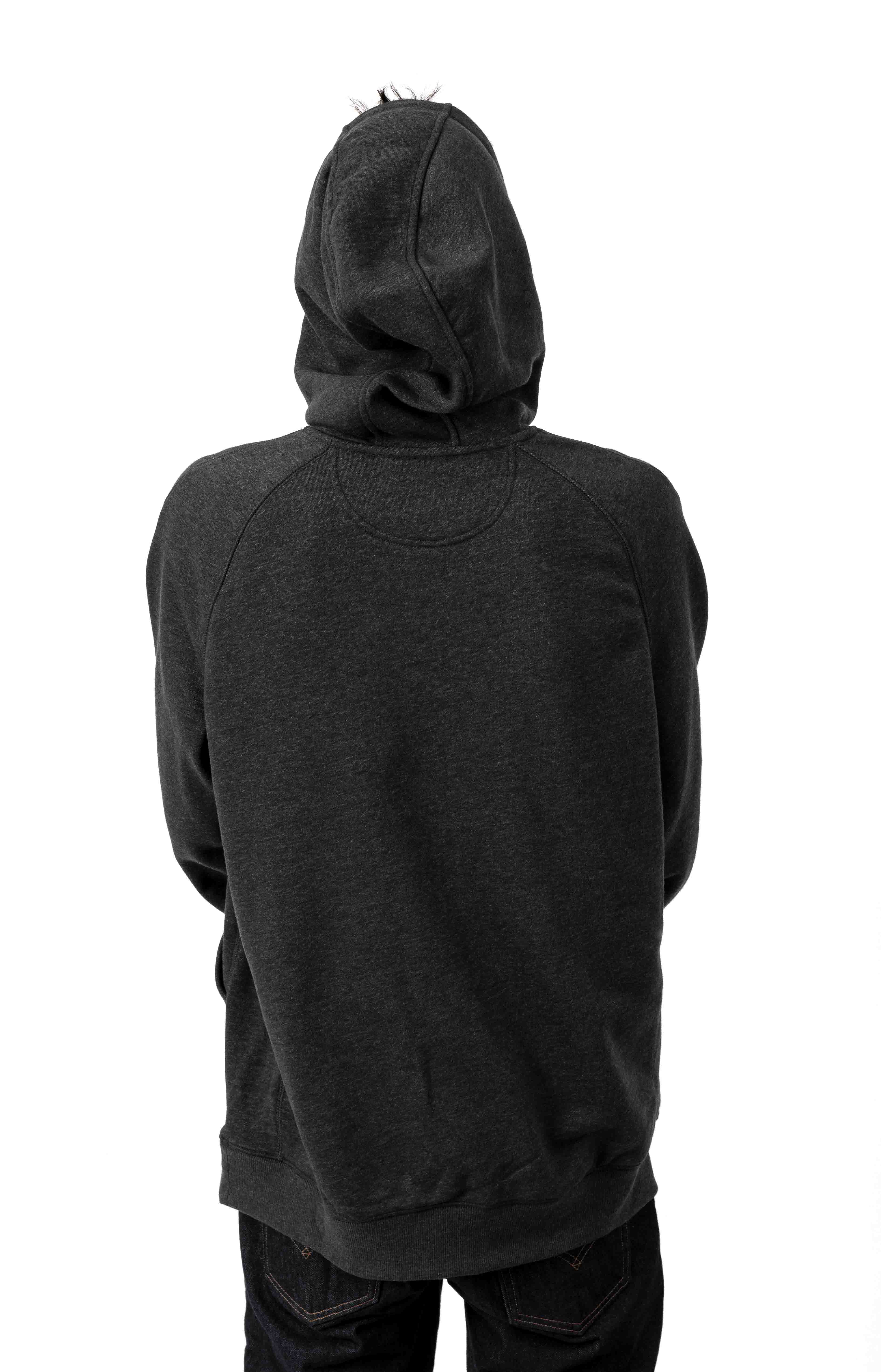 (103873) Force Delmont Signature Graphic Pullover Hoodie - Black Heather  3