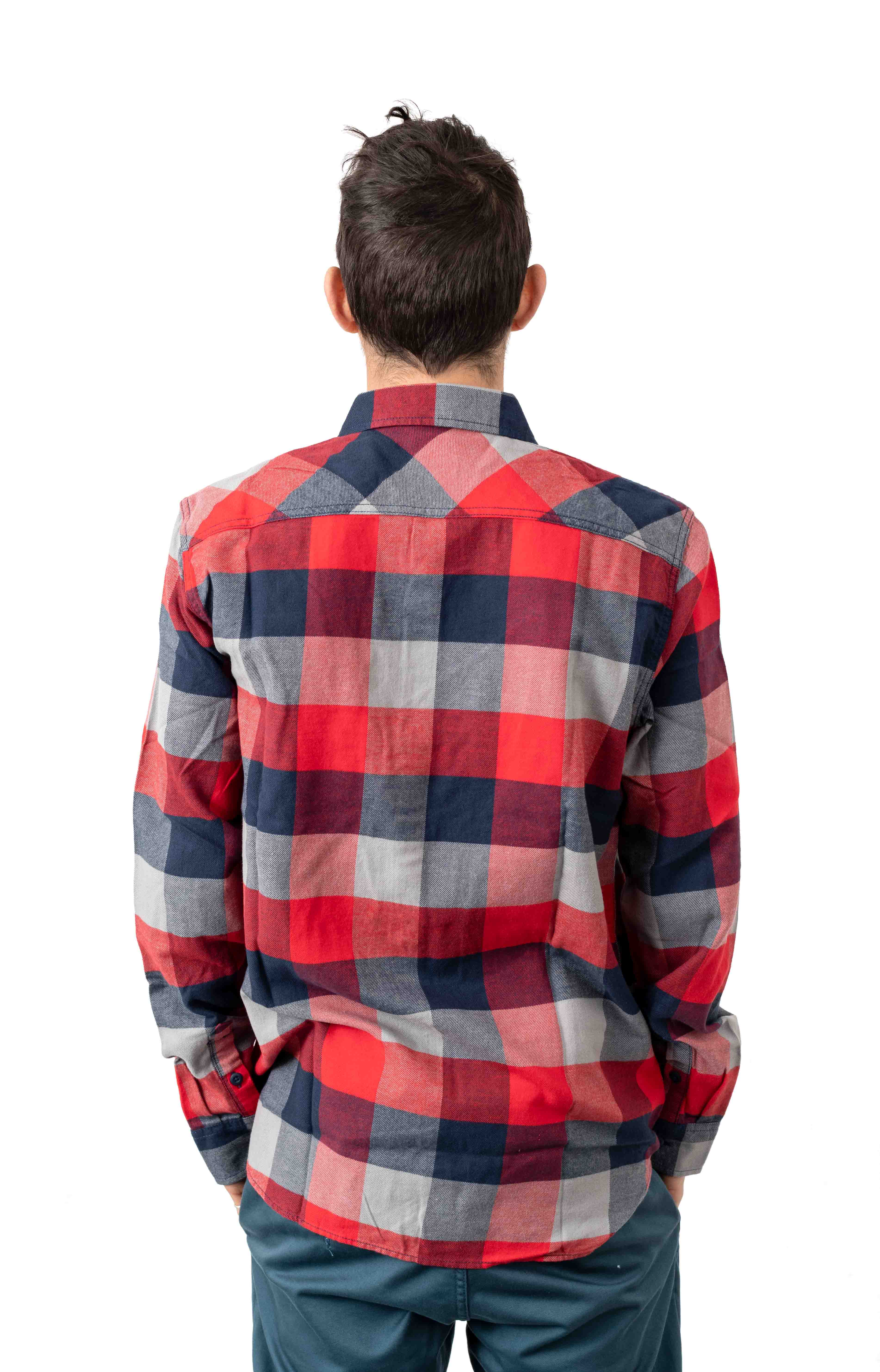 Box Flannel Button-Up Shirt - Racing Red 3