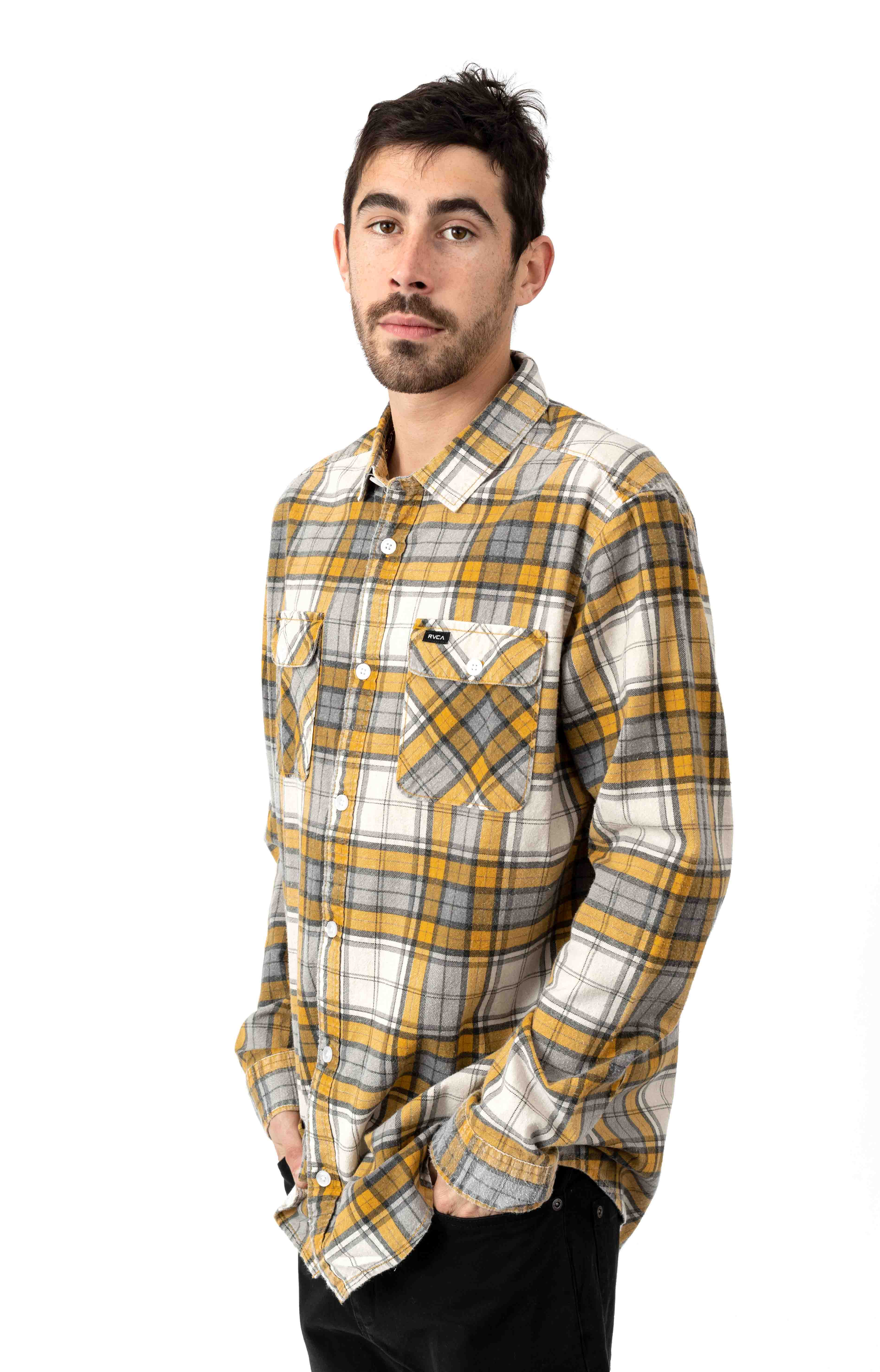 Panhandle Flannel Button-Up Shirt - Golden Yellow