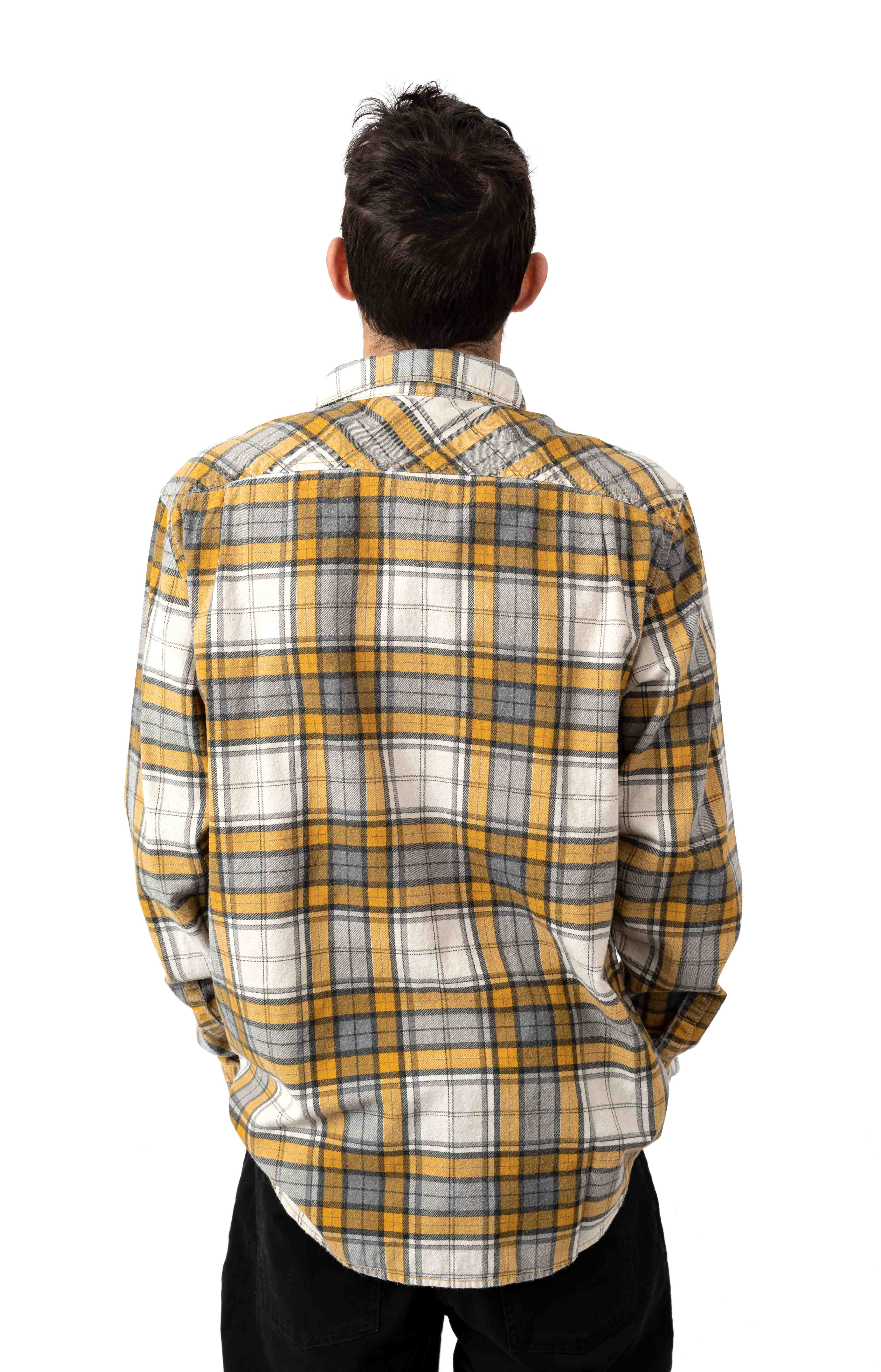 Panhandle Flannel Button-Up Shirt - Golden Yellow  3